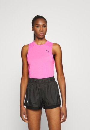 TRAIN PANEL TANK - T-shirt sportiva - luminous pink