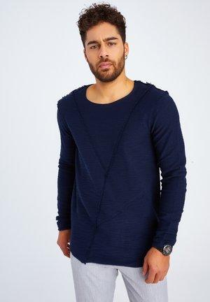RUNDHALS - Long sleeved top - dunkelblau