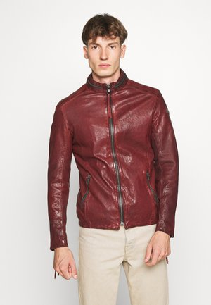 DEACON - Leather jacket - vintage bordeux