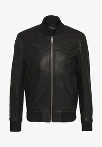 BLOUSON - Leren jas - black
