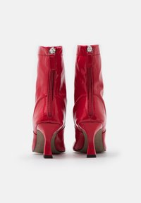 Topshop - VEGAN VIVA FLARED BOOT - Bottines à talons hauts - red - 3