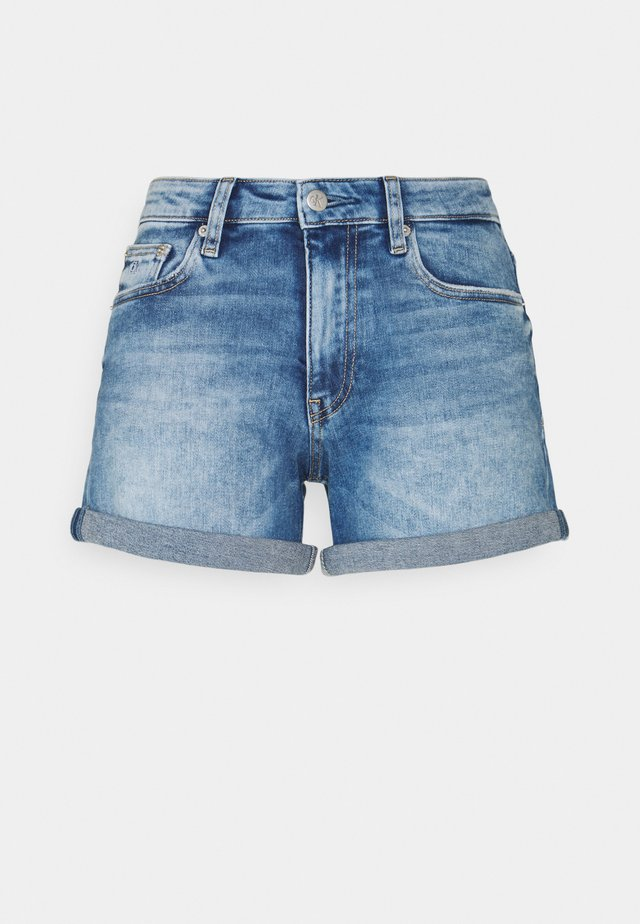 MID RISE SHORT ROLLED - Szorty jeansowe - denim dark
