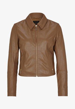 Leather jacket - chocolate camel