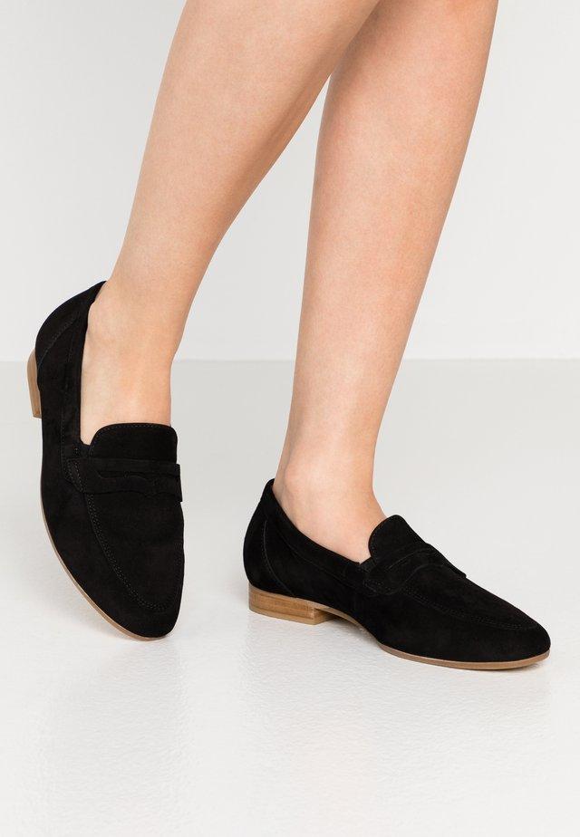 Loaferit/pistokkaat - schwarz
