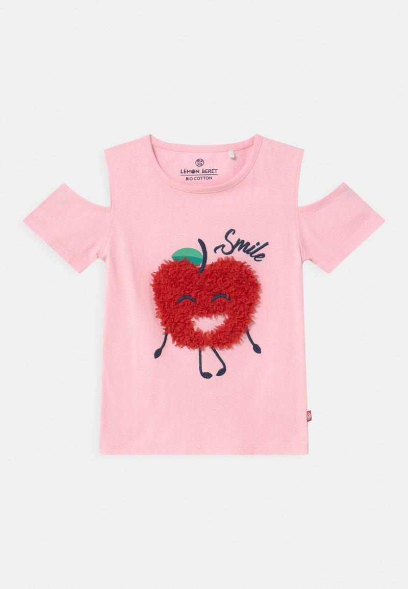 Lemon Beret - SMALL GIRLS  - Print T-shirt - almond blossom
