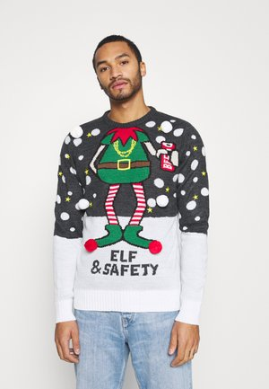 SAFETY - Jumper - charcoal/white