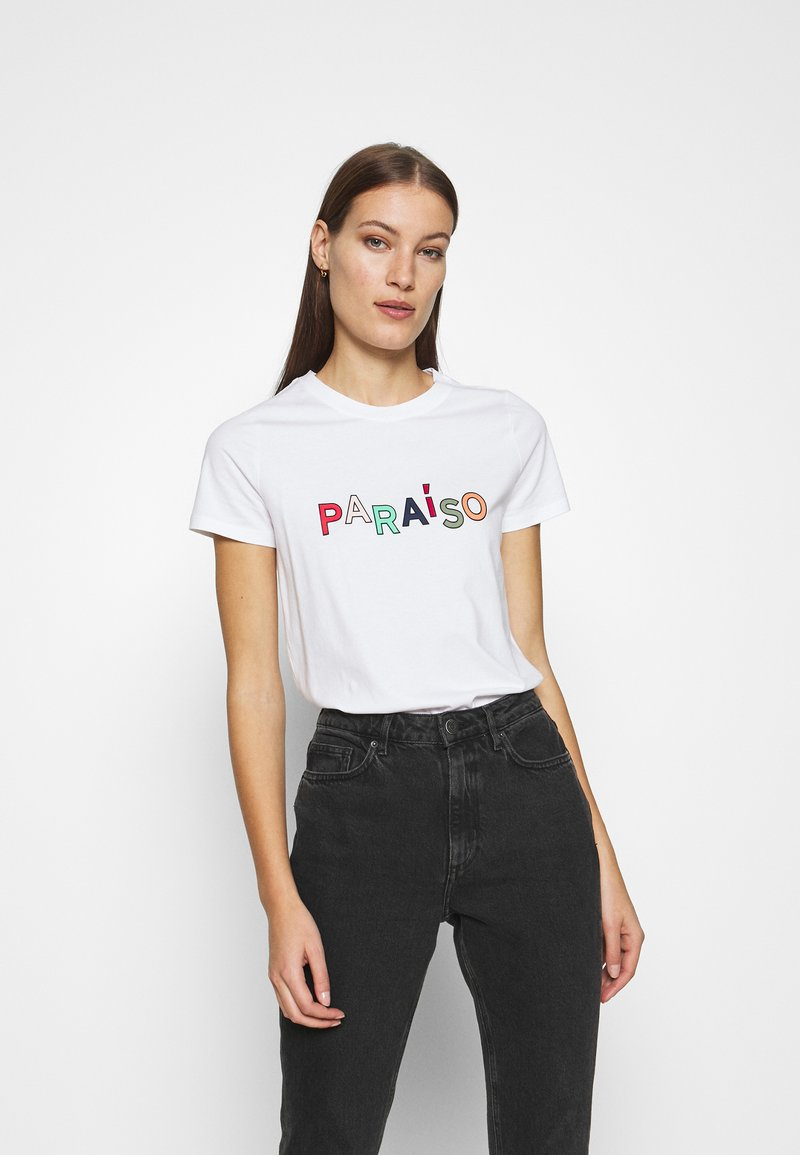 Banana Republic - PARAISO GRAPHIC - Print T-shirt - white