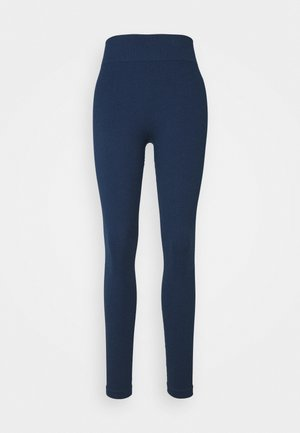 SEAMLESS HIGH WAIST LEGGING - Collants - deep navy
