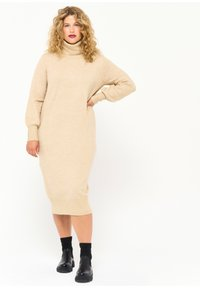 LolaLiza - Jumper dress - beige - 0