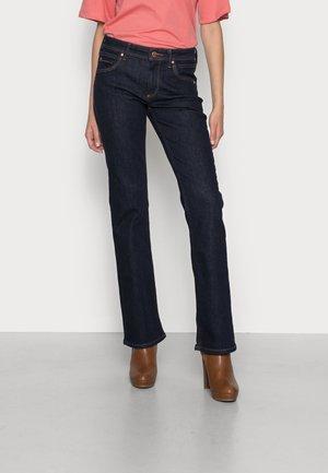 NELLA - Bootcut jeans - dark blue rinse