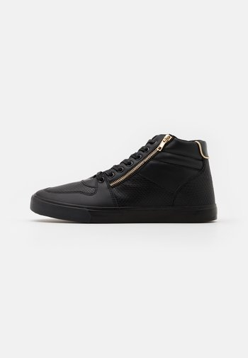 UNISEX - High-top trainers - black/gold-coloured