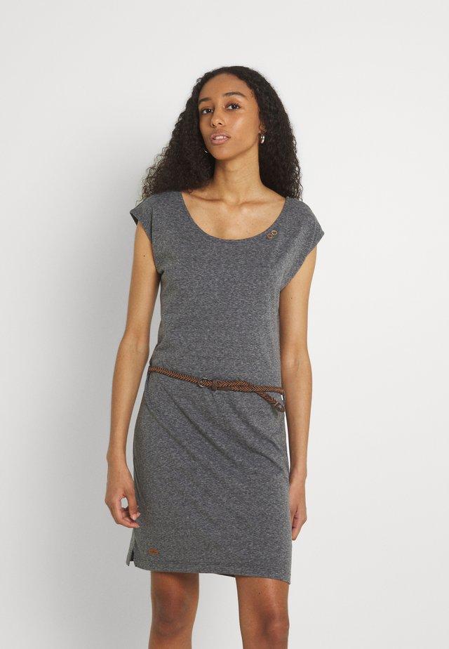 SOFIA DRESS - Jerseyjurk - dark grey