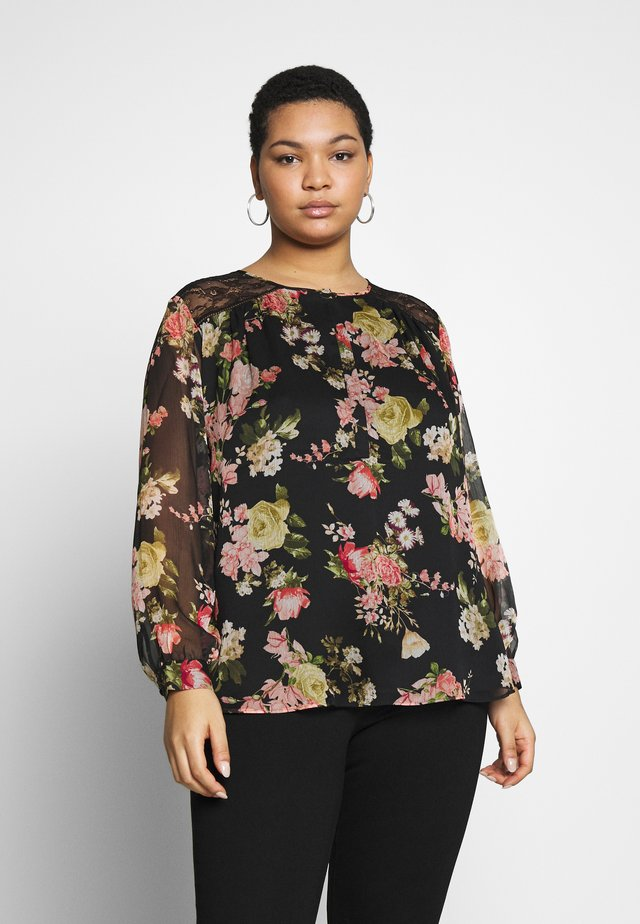 BEAUTIFUL BLOOMS BLOUSE - Blůza - black