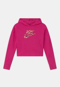 Nike Sportswear - CROP HOODIE  - Bluza - fireberry - 0