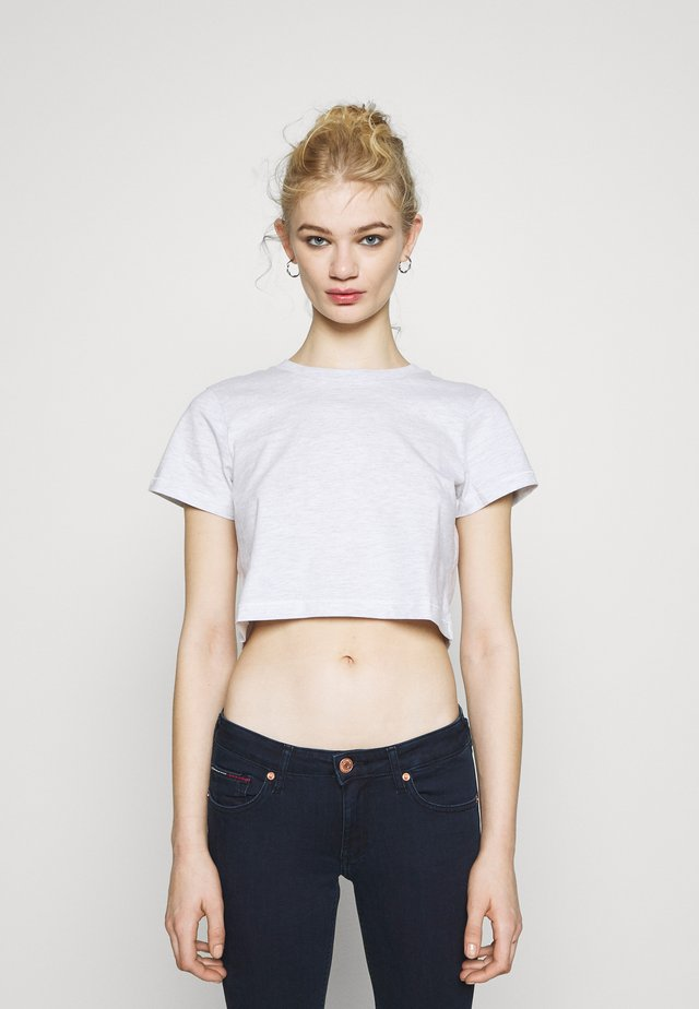 THE BABY TEE - Print T-shirt - silver marle
