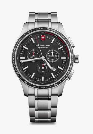 Chronograph watch - black silver