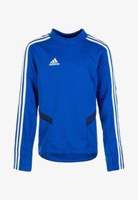 adidas Performance - TIRO 19 SWEATSHIRT - Sports shirt - bold blue / dark blue / white - 0