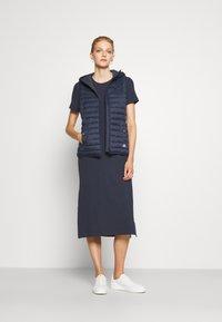 Barbour International - MANALI DRESS - Sukienka koszulowa - metallic blue - 1