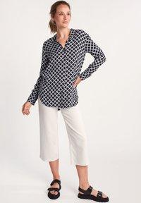 comma casual identity - Button-down blouse - dark blue grid - 1