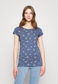 Ragwear - MINT CAMOMILE - Print T-shirt - indigo - 0