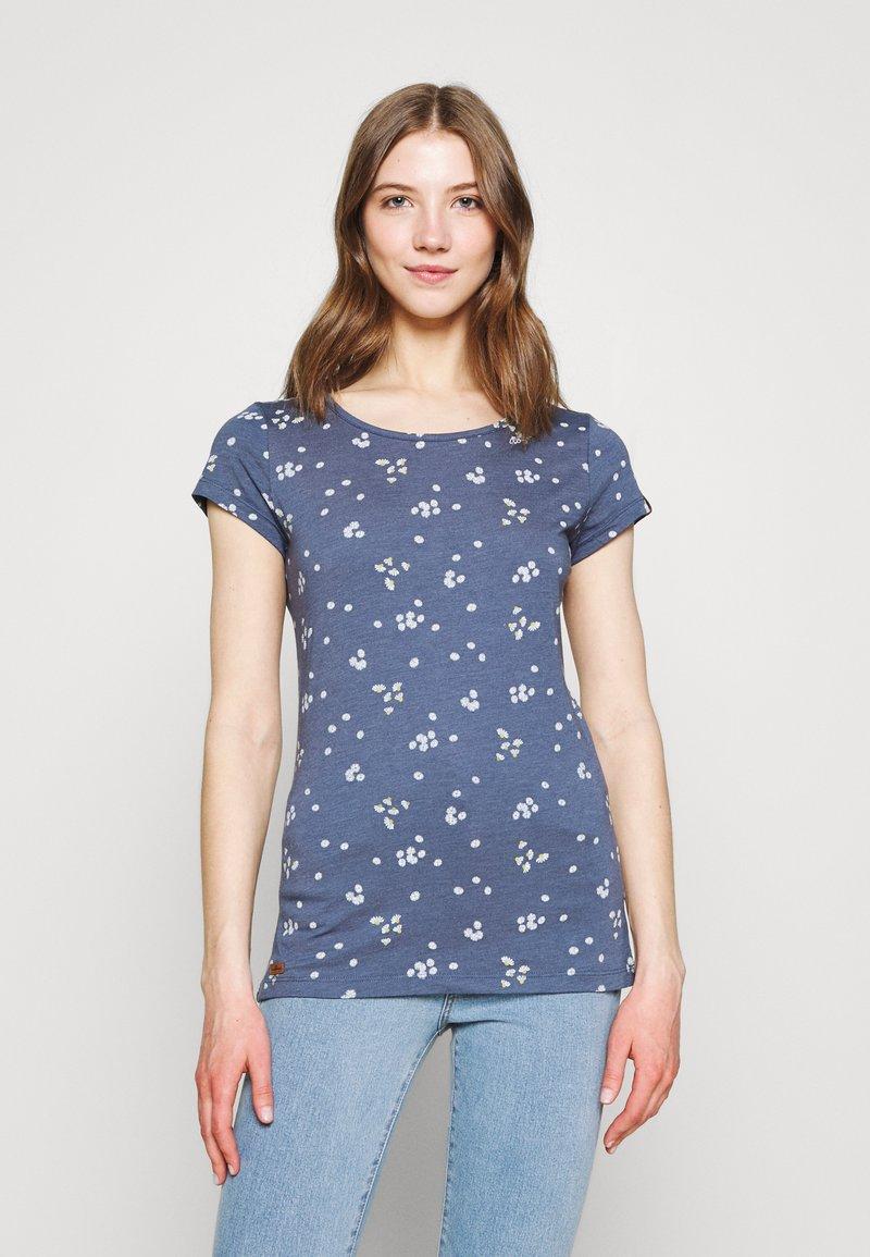 Ragwear - MINT CAMOMILE - Print T-shirt - indigo