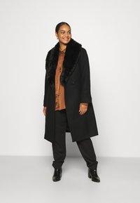 Forever New Curve - EMORY WRAP COAT - Classic coat - black - 1