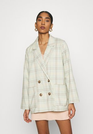 TWIGGY - Short coat - green/grey