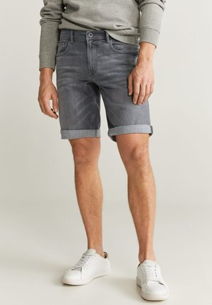 ROCKH - Szorty jeansowe - grey denim