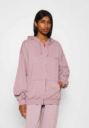 ZIP THROUGH HOODIE - Zip-up hoodie - bubble gum