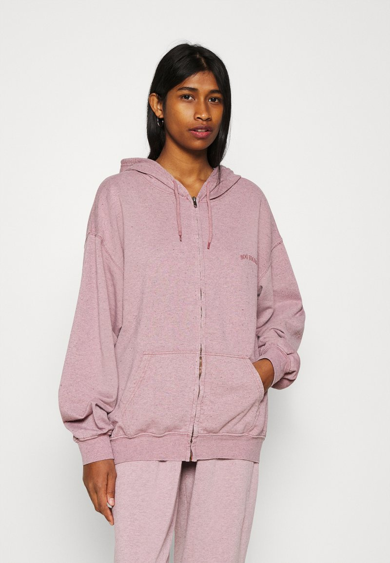 BDG Urban Outfitters - ZIP THROUGH HOODIE - Zip-up sweatshirt - bubble gum