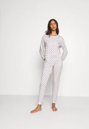 SNOOZE HEART PRINT JOGGER - Pyjamas - grey marl mix