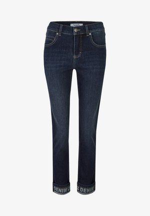 CICI TAPE' MIT STICKEREI - Slim fit jeans - dunkelblau