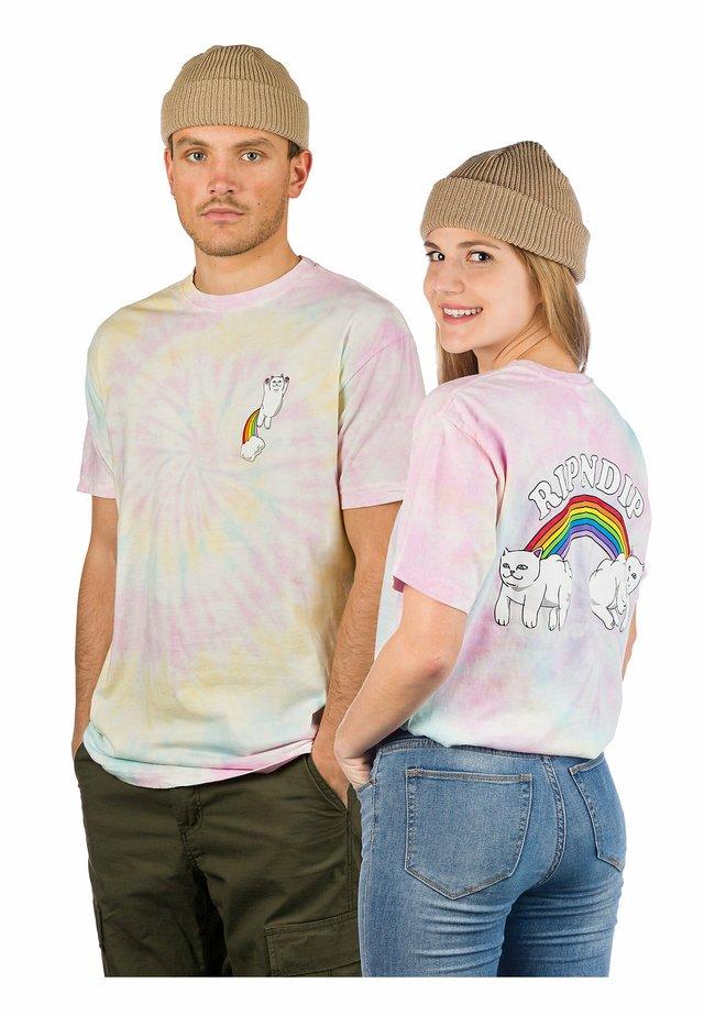 Print T-shirt - pastel spiral dye