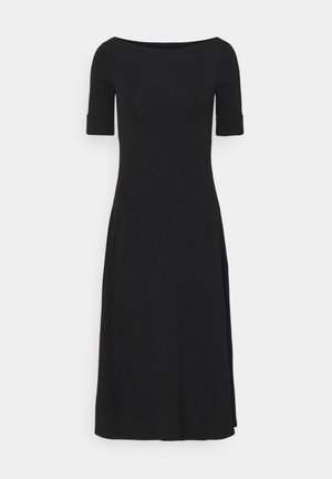 MUNZIE ELBOW SLEEVE CASUAL DRESS - Jersey dress - black