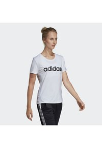 adidas Performance - DESIGN 2 MOVE LOGO TEE - Camiseta estampada - white/black - 2