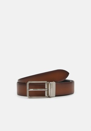 Belt - cognac/black