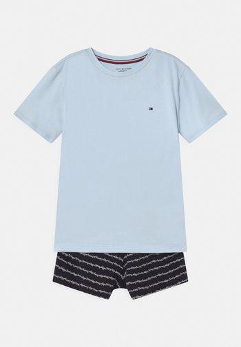 PRINT - Pyjama set - luminous blue