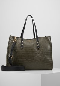 TWINSET - CROCO UNLINED - Tote bag - military - 0
