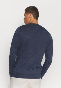 Tommy Hilfiger Tailored - CONTRAST DETAIL C NECK - Jumper - blue - 2