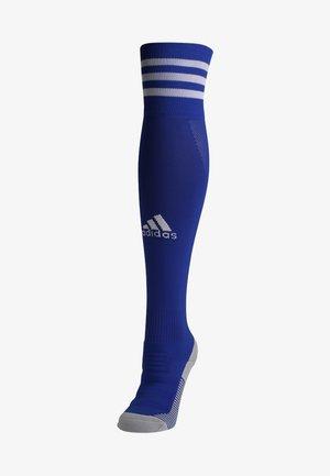 Knee high socks - boblue/white
