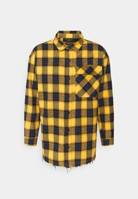 The Couture Club - OVERSIZED CHECK WITH COUTURE APPLIQUE SIGNATURE - Skjorta - yellow/blue - 0
