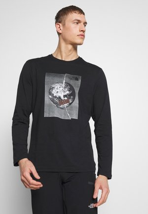 MENS GRAPHIC TEE - Longsleeve - black/white