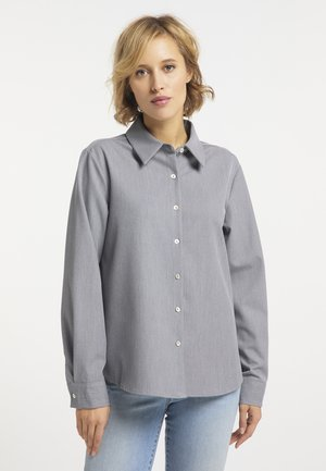 Button-down blouse - grau