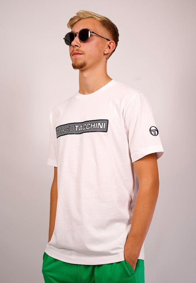 RUNDHALSSHIRT FUJI-T-SHIRT - Print T-shirt - white/navy