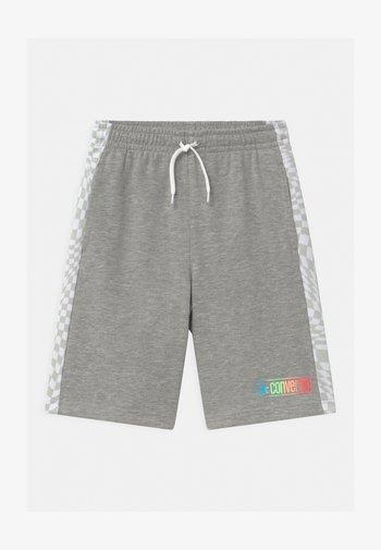 CHECKER BLOCKED UNISEX - Shorts - dark grey heather