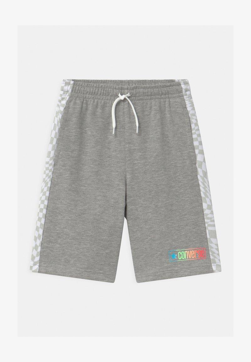 Converse - CHECKER BLOCKED UNISEX - Shorts - dark grey heather