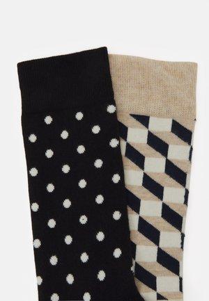 FILLED OPTIC DOT - Ponožky - dark blue/beige