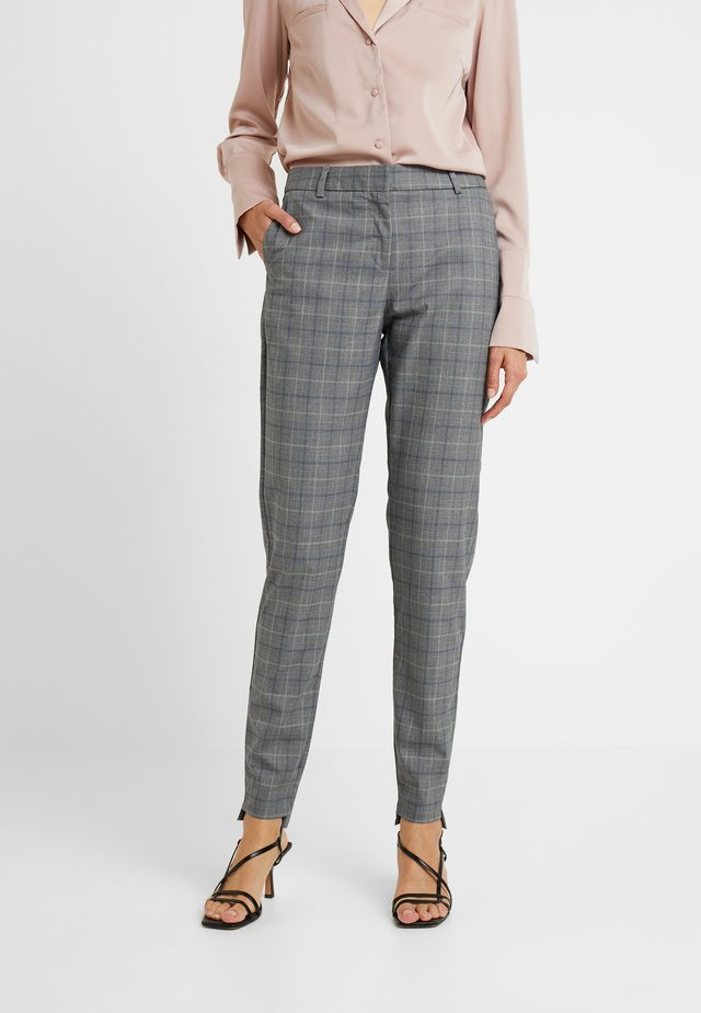 SLFAMILA PANT CHECK - Chinos - medium grey melange/comb