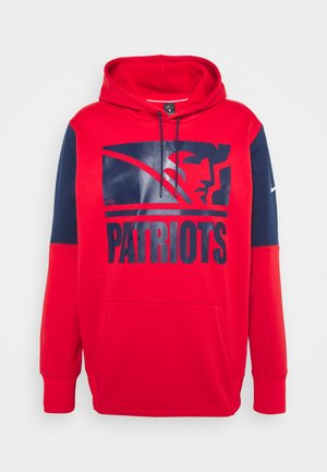 NFL NEW ENGLAND PATRIOTS MASCOT STACK HOODIE - Club wear - university red/college navy