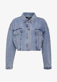 CROPPED RAW JACKET  - Denim jacket - denim blue